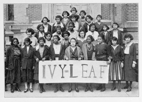 Figure 2. The Ivy Leaf Pledge Club at Wilberforce University in 1922