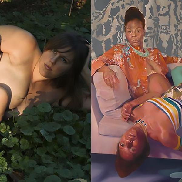 Artists Jess T. Dugan and David Antonio Cruz with Amber Johnson