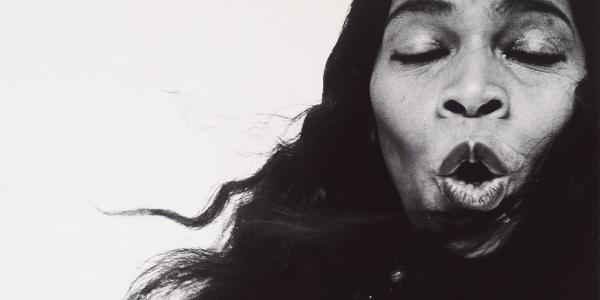Richard Avedon Photo of Marian Anderson singing with eyes closed